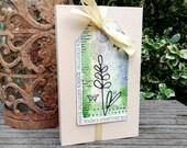 Geldgeschenk-Verpackung mit Aquarell-Tag für Pralinenschachtel