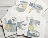 5er - Set Glückwunschkarten - handmade - jede ein Unikat - in Schmuckverpackung