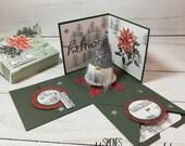 Weihnachts-Box - Geschenkbox - Geldgeschenk - Explosionsbox