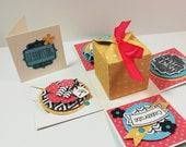 Geburtstags-Box - Geschenkbox - Geldgeschenk - Explosionsbox