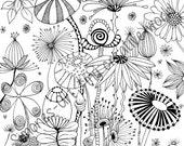 Flower Meadow - Adult col...