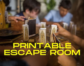 Family escape room kit. Ideal kids and family game or for a printable birthday