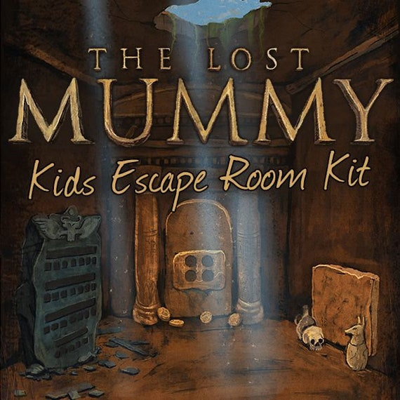 image relating to Free Printable Escape Room Kit Pdf referred to as Little ones Escape Place Package The Misplaced Mummy