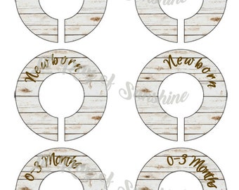 851R: Faux Wood 1 Baby Closet Dividers