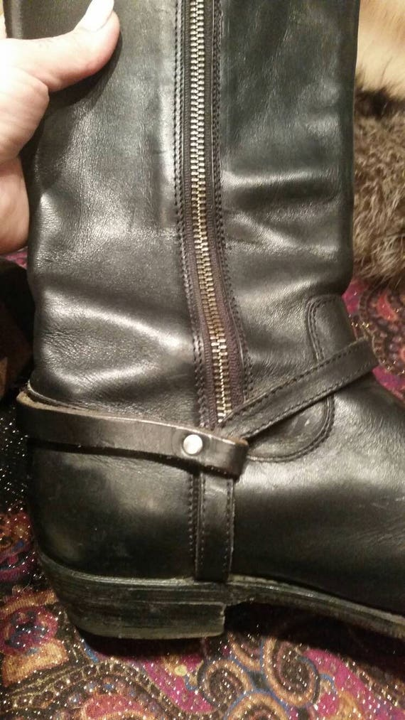 Vintage/Frye/black Motorcycle /Riding Boots/ Eque… - image 1