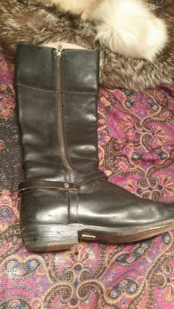 Vintage/Frye/black Motorcycle /Riding Boots/ Eque… - image 2