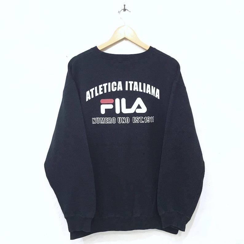 b1b17c58cb1c Rare FILA Atletica Italiana Spellout Biglogo Sweatshirt