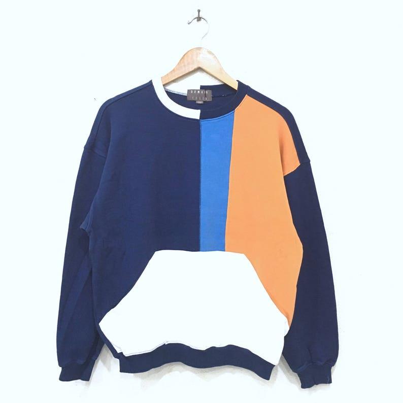 976cf76c DEMAIN CLAIR Japan Branded Sweatshirt Colour Block Pullover | Etsy