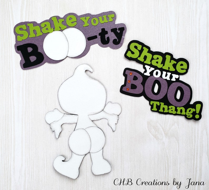 Shake Your Boo Thang Paper Piecing Scrapbook Embellishment 3 Etsy