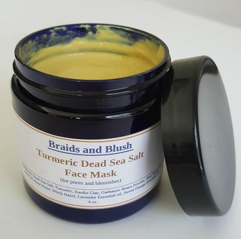 Turmeric Dead Sea Salt Face Mask Best For Acne Scars Pores Etsy