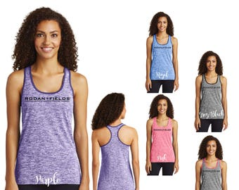Rodan and Fields Electric Heather Racerback Tank, R+F Racerback Tank, R+F Tank, Tank Top, R+F Clothing, Rodan and Fields