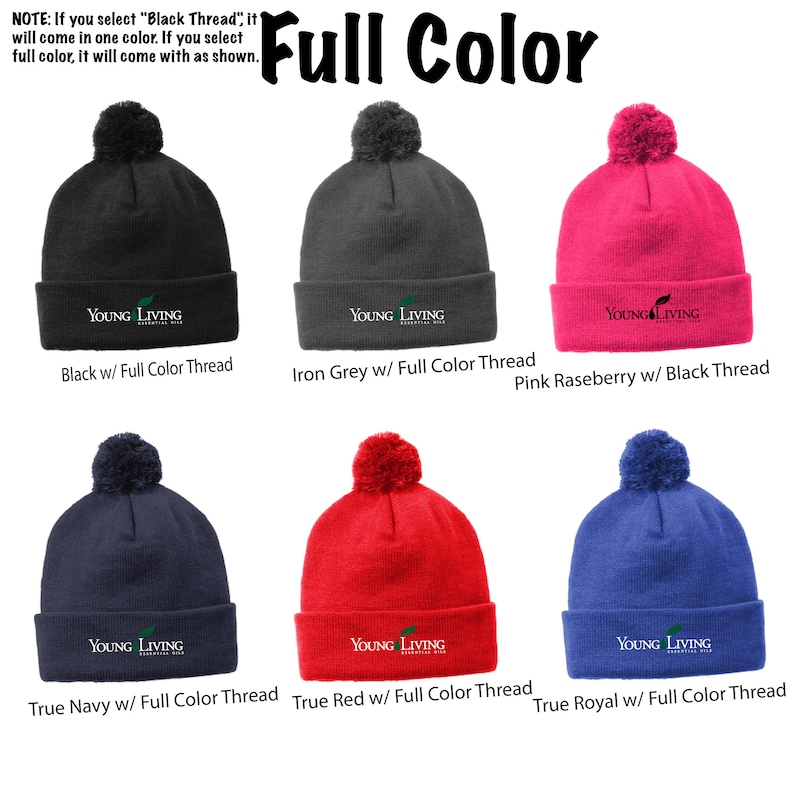 Embroidered Young Living Pom Pom Beanie Young Living Beanie Young Living STC37 Pom Pom Beanie Cute Beanie,Toboggan Young Living Clothing