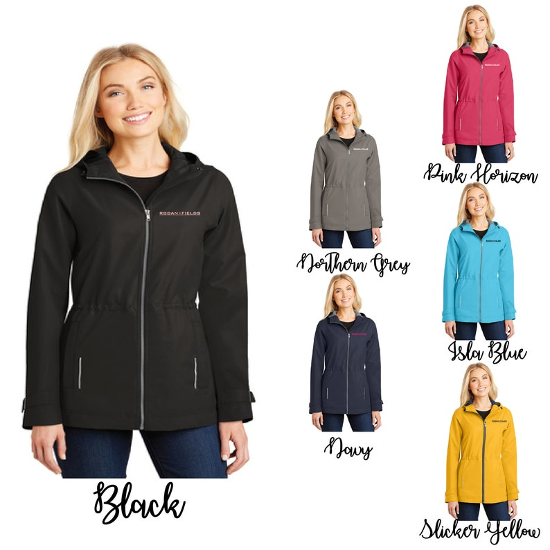 1ed99ba51 Embroidered Rodan and Fields Northwest Slicker, Embroidered R+F  Windbreaker, R+F Windbreaker, Rain Coat,R+F Jacket, Jacket, Rodan and Fields