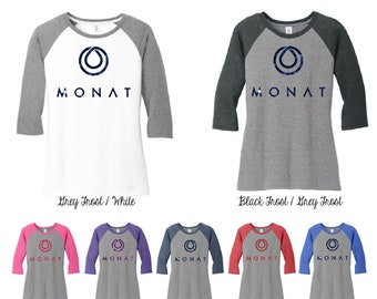 Glitter Monat 3\4 Raglan Sleeve Shirt, Monat Shirts, Monat Baseball Tee, Monat Gear, Monat Event, dm136