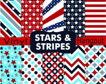 Pattern Vinyl, Stars and Stripes, Printed Vinyl, Adhesive Outdoor 651 Vinyl, HTV, Heat Transfer Vinyl, Iron On Vinyl, Patriotic Vinyl, Stars