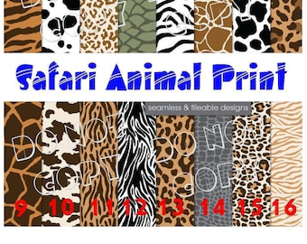 Printed Vinyl, Safari Animal Print, HTV Vinyl,Pattern Vinyl, Heat Transfer Vinyl, Adhesive Outdoor Vinyl, HTV Vinyl, Iron On, Animal HTV