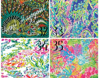 Printed Vinyl, Lilly Inspired 32-35, Pattern Vinyl, HTV, Adhesive Outdoor Vinyl, Heat Transfer Vinyl, Lilly Pulitzer Heat Transfer, Lilly