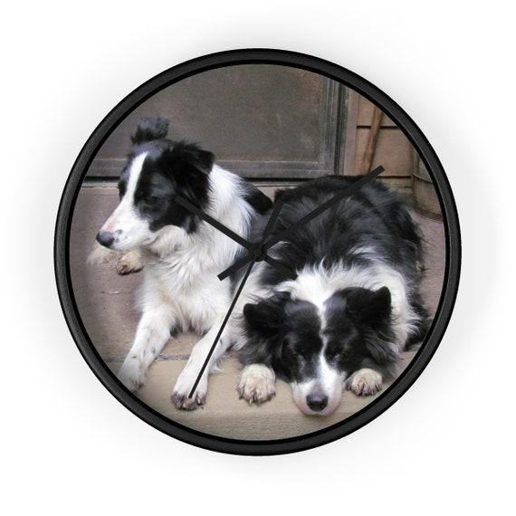 Wall Clock Border Collies Dog Clock Dog Lover Gift Etsy