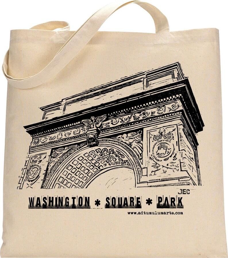 Washington Square Park Arch Cotton Tote Bag NYC Sendit to me