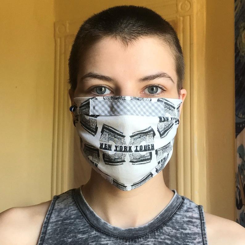 Face Mask NY Tough Handmade Reusable 100% Cotton 3-layer Cover image 0