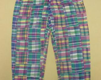 Vintage Polo Ralph Lauren Patchwork Madras Pants   Preppy   Ivy League 0b8e788f5