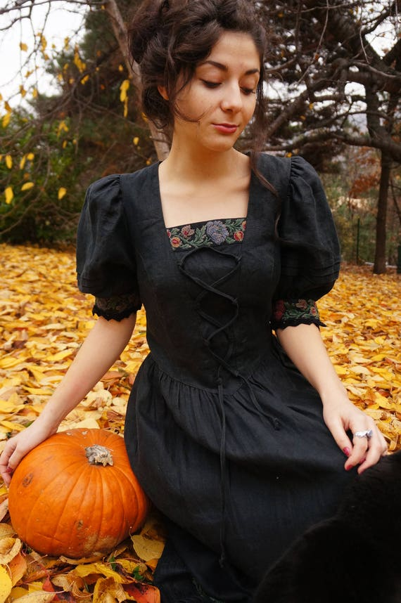 Traditional Dirndl dress, Bavarian costume, Octobe