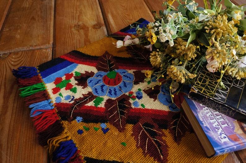 Colorful Boho Rug Bohemian Wall Hanging Fabric Country Home Decor Vintage Boho Rug