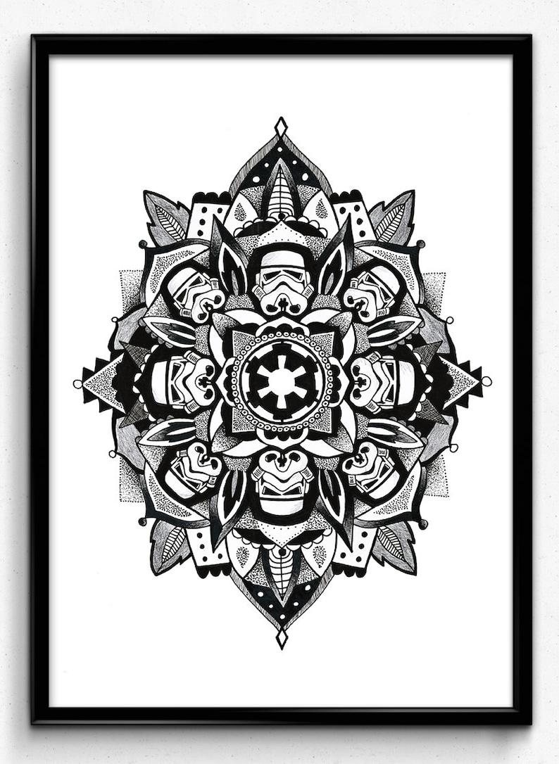 Star Wars Stormtrooper Mandala Imprimer