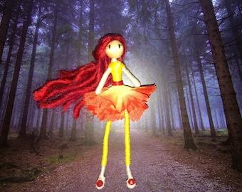 Flower Fairy- Bendy doll
