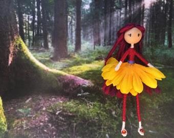 Flower fairy - Bendy doll
