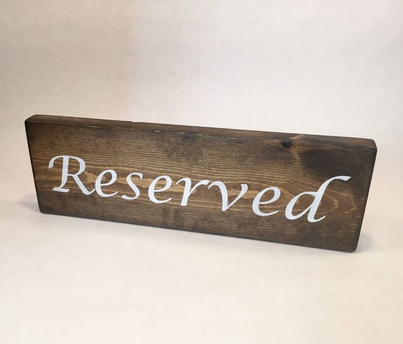 Restaurant Decor Restaurant Table Numbers Restaurant Table Sign Reserved Table Sign Clear Coat ADD ON Reserved Sign