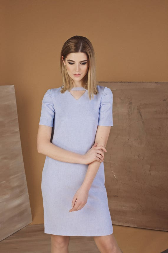 Purple Spring Summer Dress Plus Size Dress Office Oversize Etsy