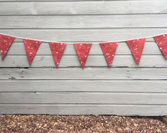 Christmas Bunting in Traditional print