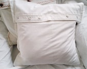 White pillow case shabby ...