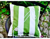 Pillow green white with b...
