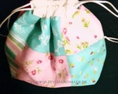 """Colourless Pompadourags, Cloth Bags with Drawstrings, 20 x 18 cm/8x7 """""""