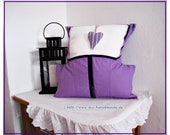 Cosy purple pillow with h...