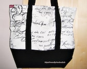 Fabric bag, two-tone blac...