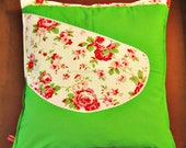 Grass green pillow cover ...