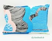 "Neck pillow, cuddly pillow for interior and exterior, unique 38 x 26 cm, 15""x10"","