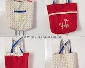 eco-friendly reversible bag, fabric bag for turning, 42 x 36 cm, tote bag, fruit bag, tote bag, unique