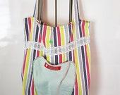 foldable fabric bag, tote bag, w&h 38 cm, designer bag, fabric bag, cotton bag, tote bag, unique