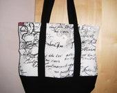 two-tone fabric bag, tote bag, carrying bag,
