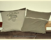 """two cushion covers with hotel closure, 40 x 40 cm, 15.75x15.75"""", pillowcase, upcycled, zero waste"""