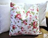 "Pillowcase 40 x 40 cm, 15.75x15.75, ""Pillow case with Rose pattern, Zipper,"