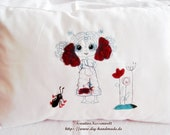 Embroidered cotton pillow...