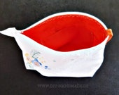 Cosmetic Bag hand-embroidered, 24 x 17 x7 cm, toilet Bag, Hygiene case,