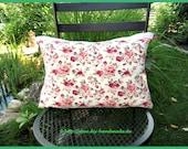 """Cuddle cushions, rose pattern, about 50 x 35 cm, c. 19.5ŵx14, """"unique, stuffed cushion, cotton tip,"""