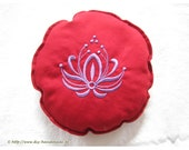 """Pillow for Sound Bowls, Sound bowl Cushions embroidered with Lotus flower, Diameter 18 cm, 7, """""""