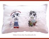 """Cuddly pillow cotton, 50 x 33 cm/ 20x13"""", cuddly pillow,"""